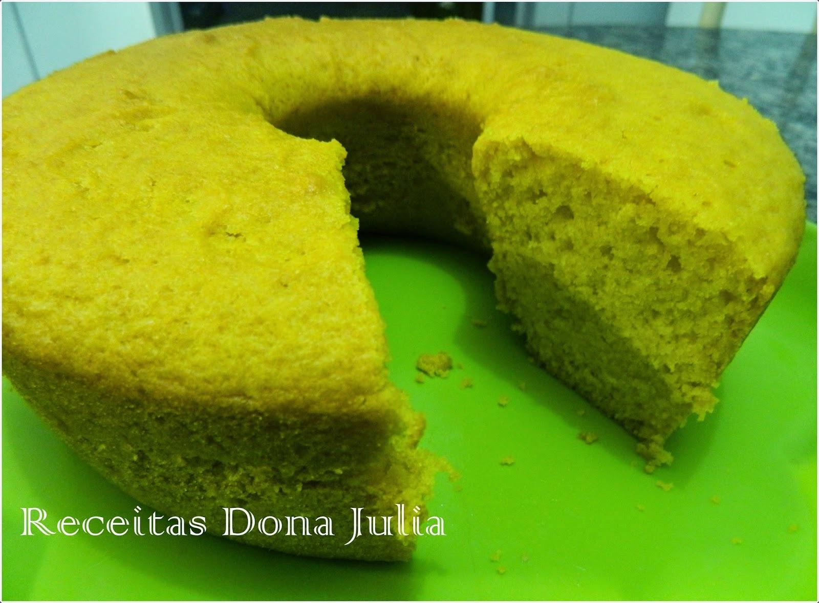 bolo caseiro feito com oleo