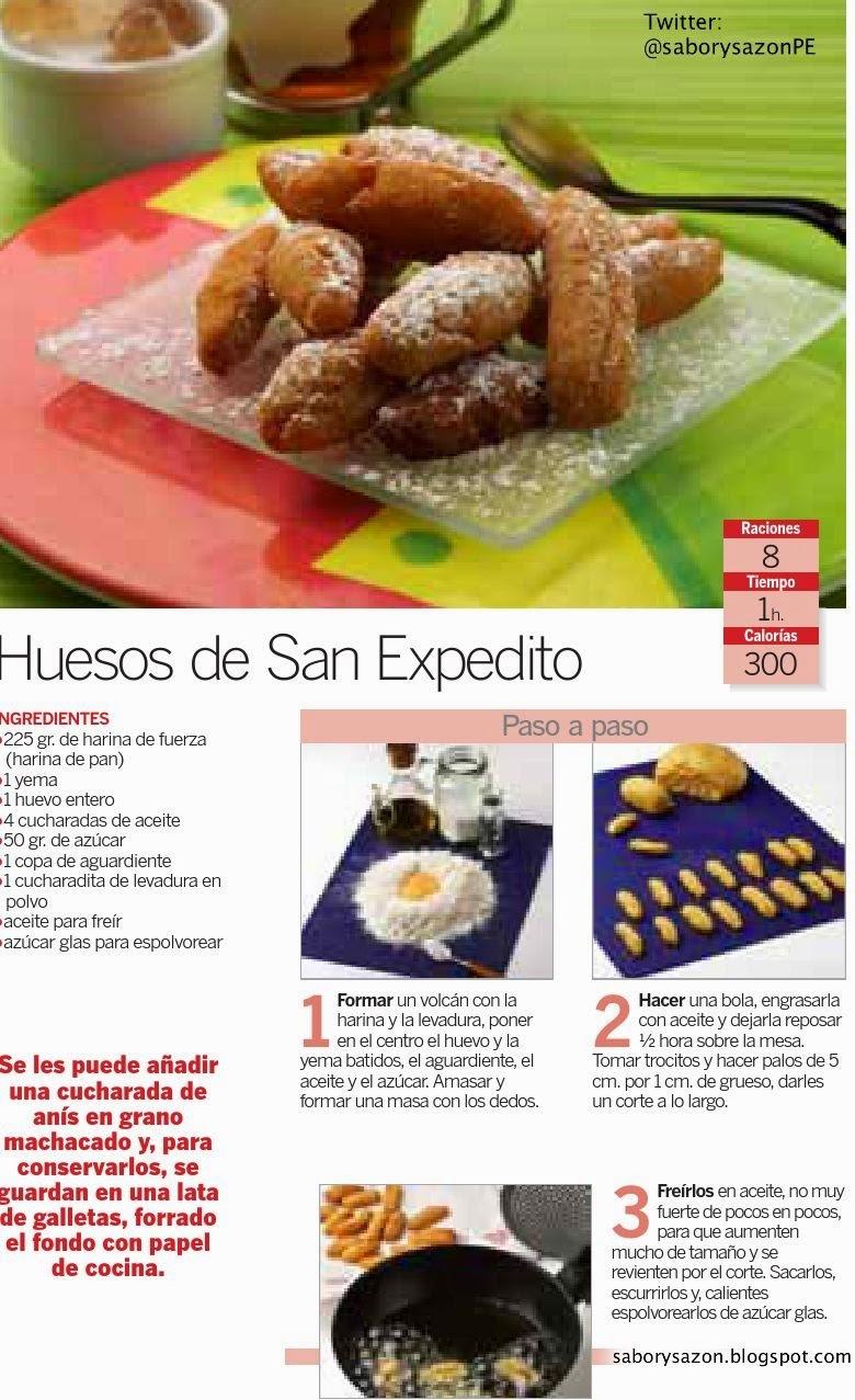 RECETA SENCILLA : HUESOS DE SAN EXPEDITO - UN CLASICO POSTRE ESPAÑOL