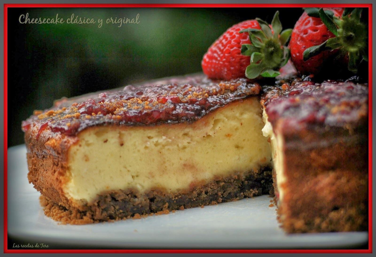 Cheesecake clásico y original.