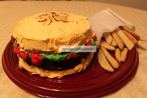 Burger and Fries--Cake