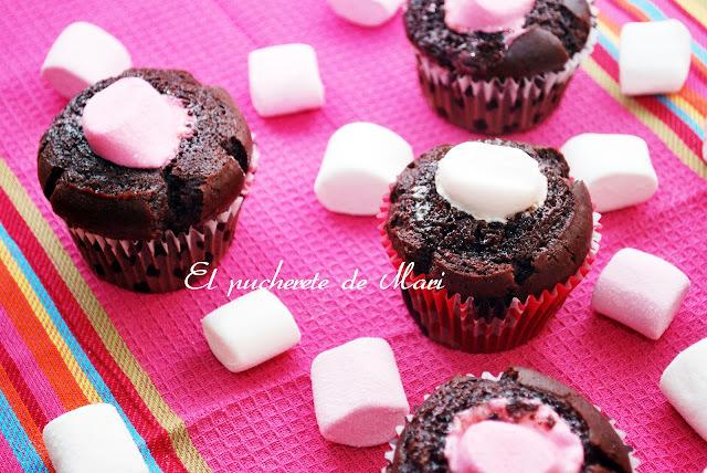 ESTOY VIVA  Y MUFFINS DE CHOCOLATE CON NUBES