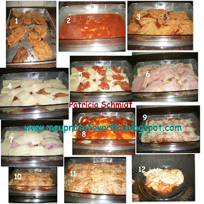 Bife à parmegiana de forno