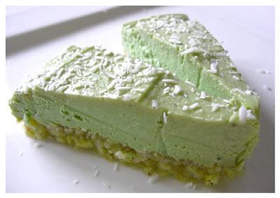 Sirova torta od limete i mente