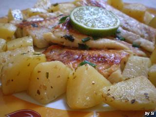 filé de pescada ao forno com batatas