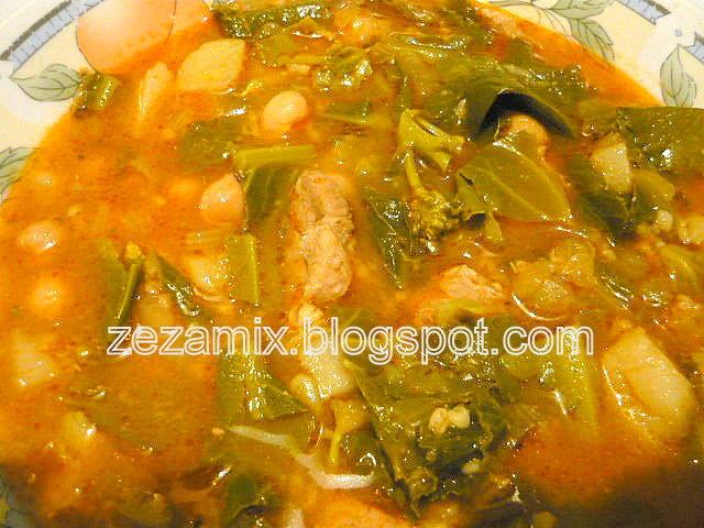 Varivo od mladog zelenog povrća, mesa i slanutka