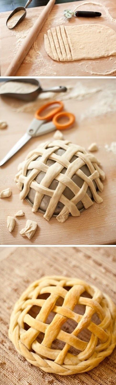 Técnica fácil para fazer uma cesta com massa de pão caseiro.
