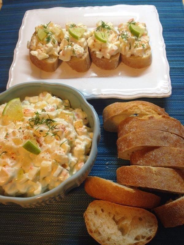 Ensalada De Cangrejo, Manzana Y Cebolleta Con Mayonesa De Yogur