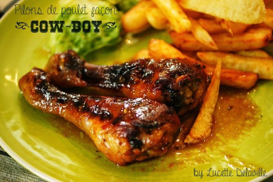 Pilons de poulet façon cow-boy {sans gluten et sans lactose}