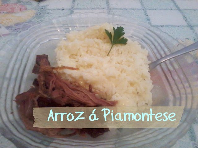 Arroz á Piamontese!