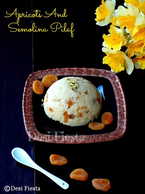 Apricot and semolina pilaf (Turkish dessert )