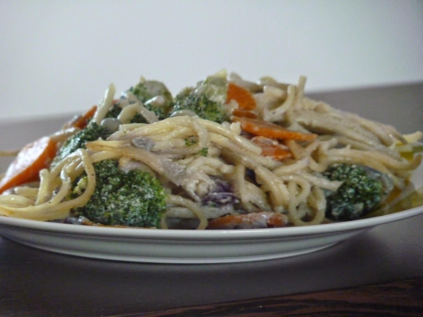 Tejszínes-zöldséges tészta