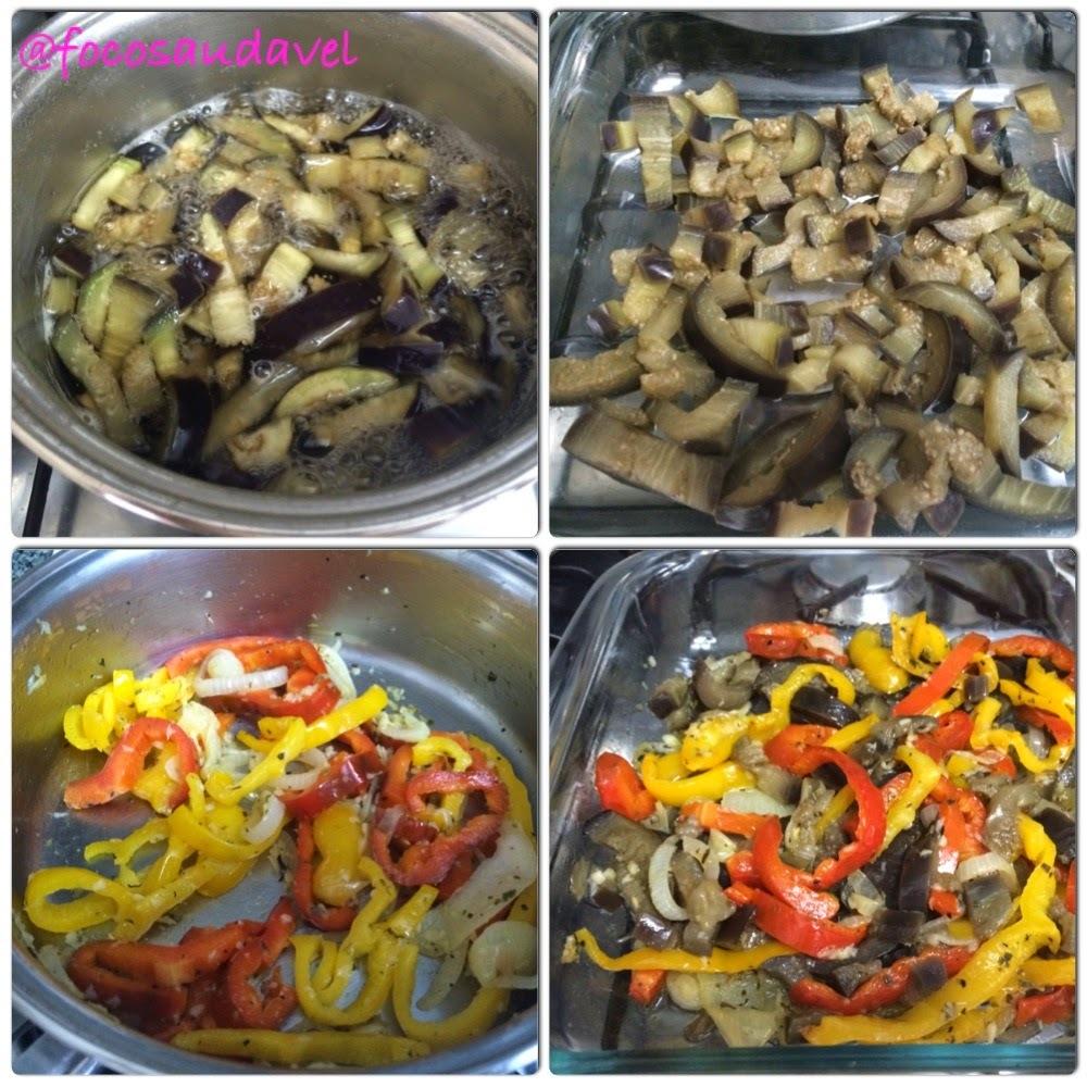 de salada de berinjela ao forno com frios
