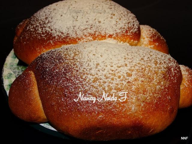 Pão doce de leite em pó com fermento natural
