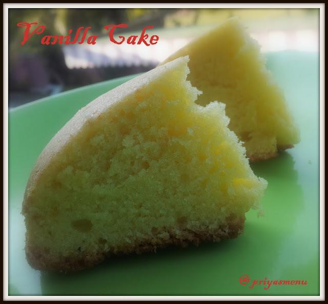 make vanilla cake without milk