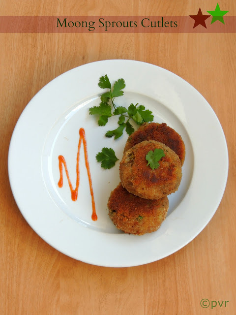 Moong Sprouts Cutlets