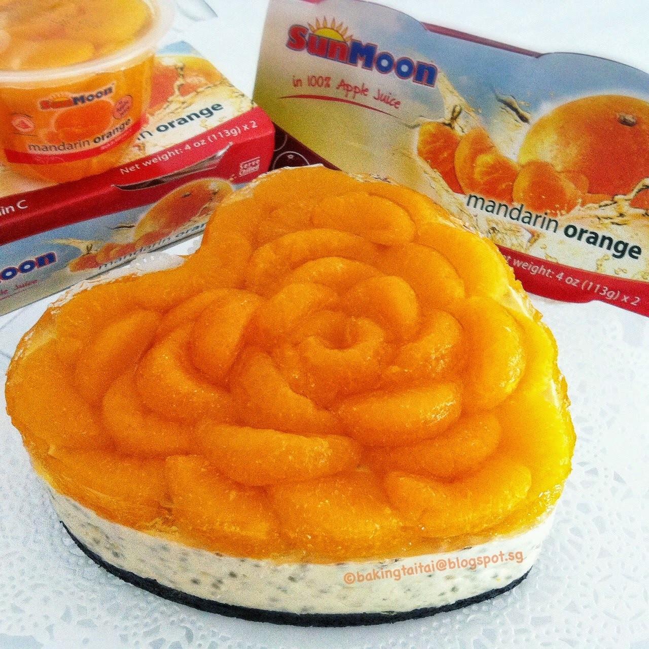 Orange Yogurt Chia Cheesecake + 3rd SunMoon Giveaway 橘子酸奶奇亚乳酪蛋糕+ SunMoon 礼包赠品#3