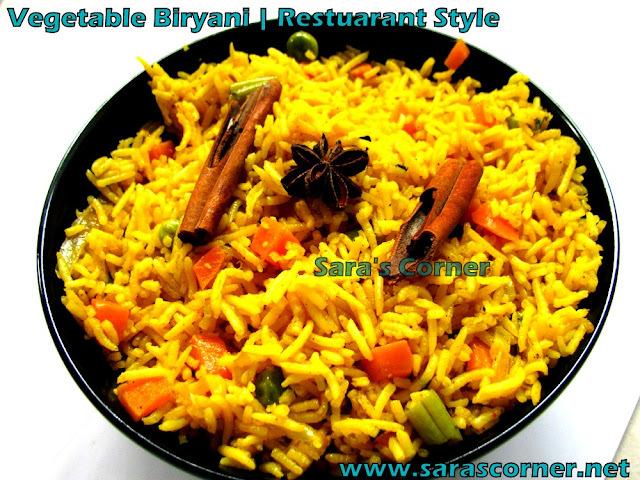Vegetable Biryani | Restuarant Style!