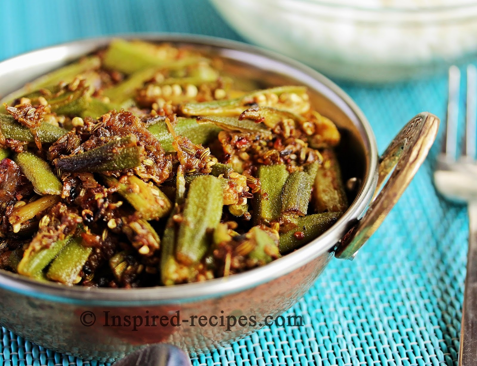 Bhindi Masala with Saunf - Spiced Okra with Fennel Seeds