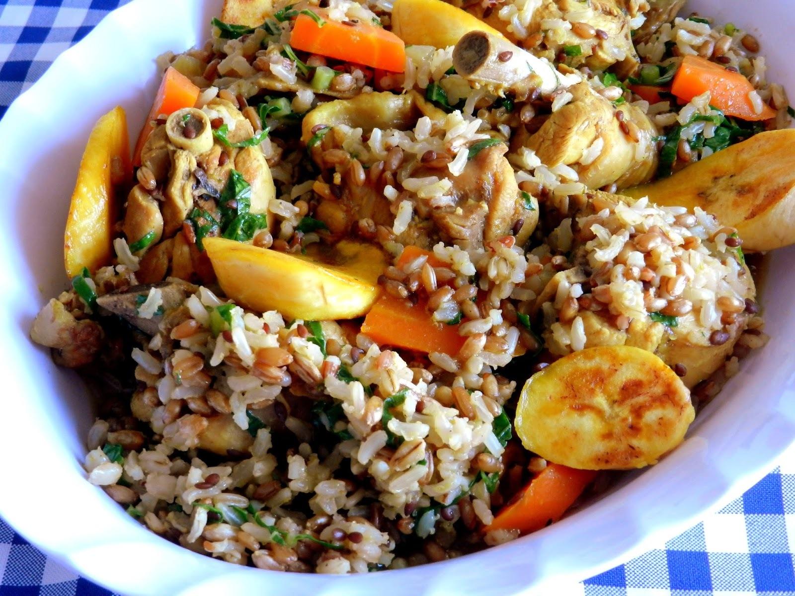 Galinhada com arroz 8 grãos