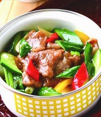 Cucumber meat pot
