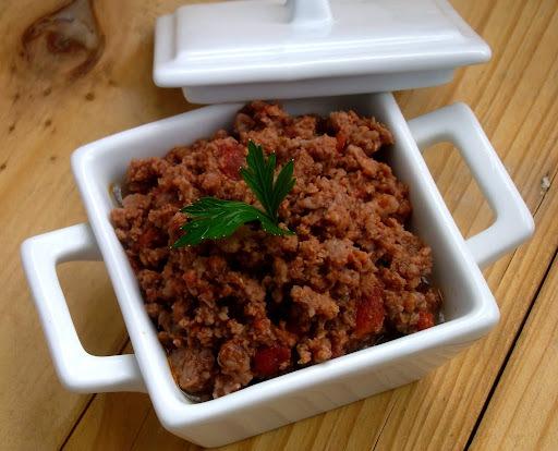 Carne moída na panela de arroz