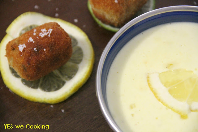 Croquetes de pupunha com molho de limão - Brasileiríssimo!!!