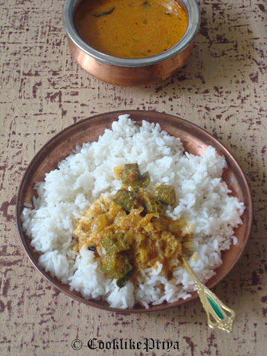 Vendakkai Thenga Pal Kozhambhu | Ladies Finger Coconutmilk Curry | Orka Coconut Curry Recipe