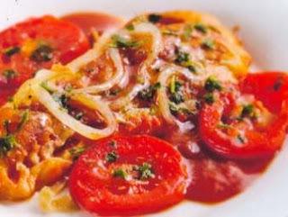 Filé de merluza assado à italiana