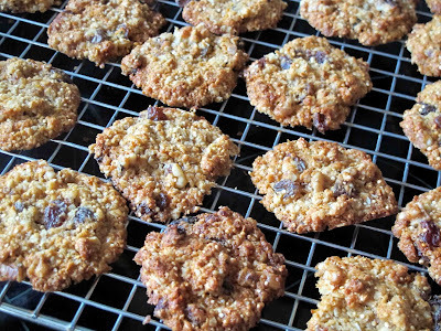 Sultana ,Walnut and Quinoa Cookies