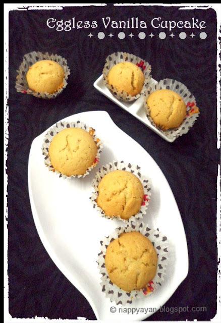 Basic Eggless Vanilla Cupcake