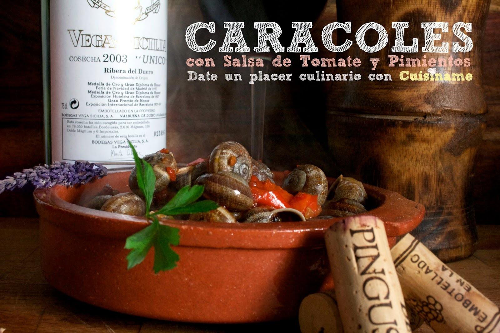 Caracoles en Salsa de Tomate. Receta Casera
