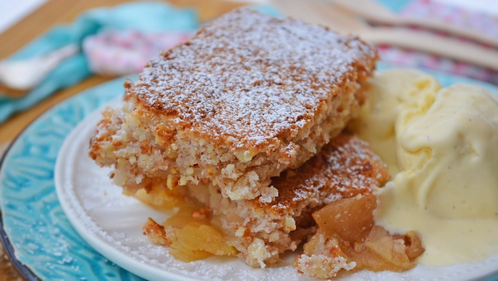 Gyors almás pite vanília fagyival - paleo