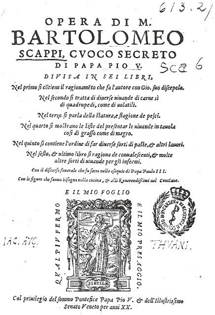 Bartolomeu Scappi, cozinheiro dos papas