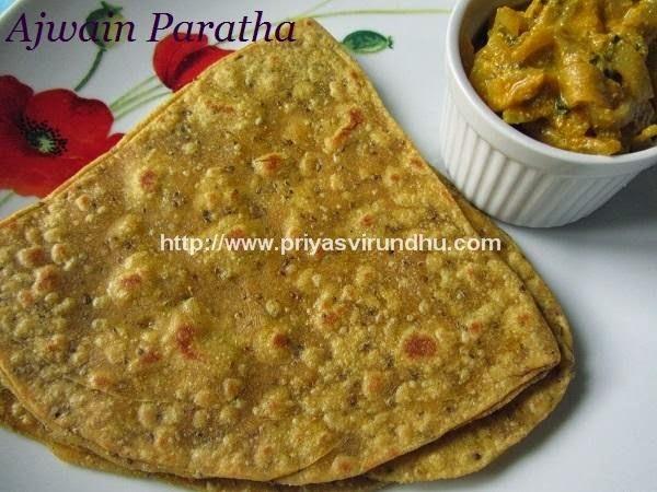 Ajwain Paratha/Omam Paratha/Carom Seeds Paratha