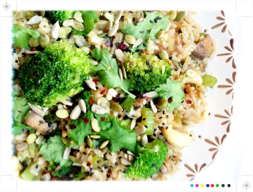 Bookshelf:Ginger,Cashew & Vegetable Fried Rice from Dr Libby's Real Food Chef