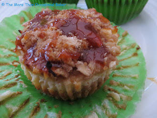Mini Caramel Apple Cheesecakes with Streusel Topping