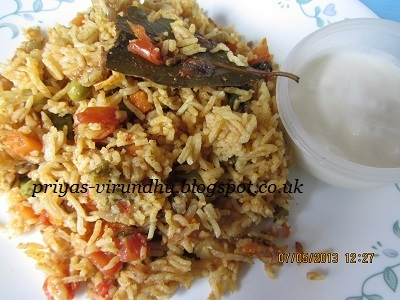 Quick Pressure Cooker Vegetable Biryani