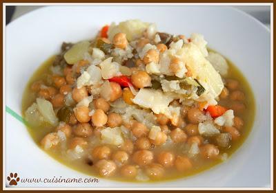 Cocido de Garbanzos | Cocina Casera | Recetas Vegetarianas