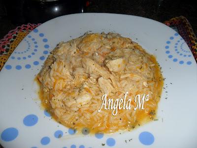 Arroz de peito de frango e cenoura