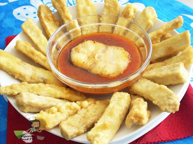 Egg Coated Nigerian Sweet Potato Fries (Potafritas)