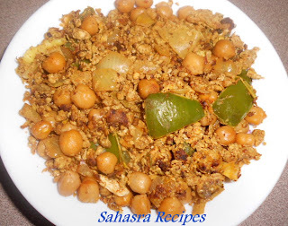 Chickpeas Egg Stir Fry