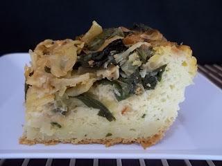 Torta de repolho e espinafre