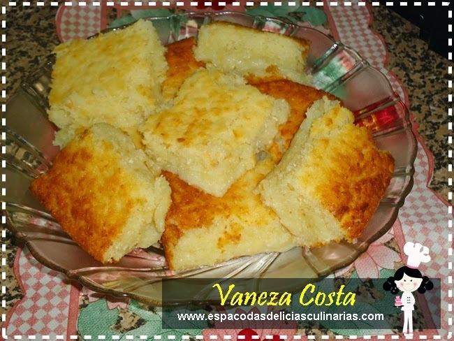 Bolo de aipim (mandioca) com leite em pó, de Vaneza Costa
