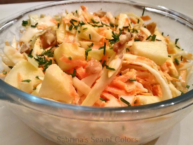 Ensalada coleslaw a mi estilo