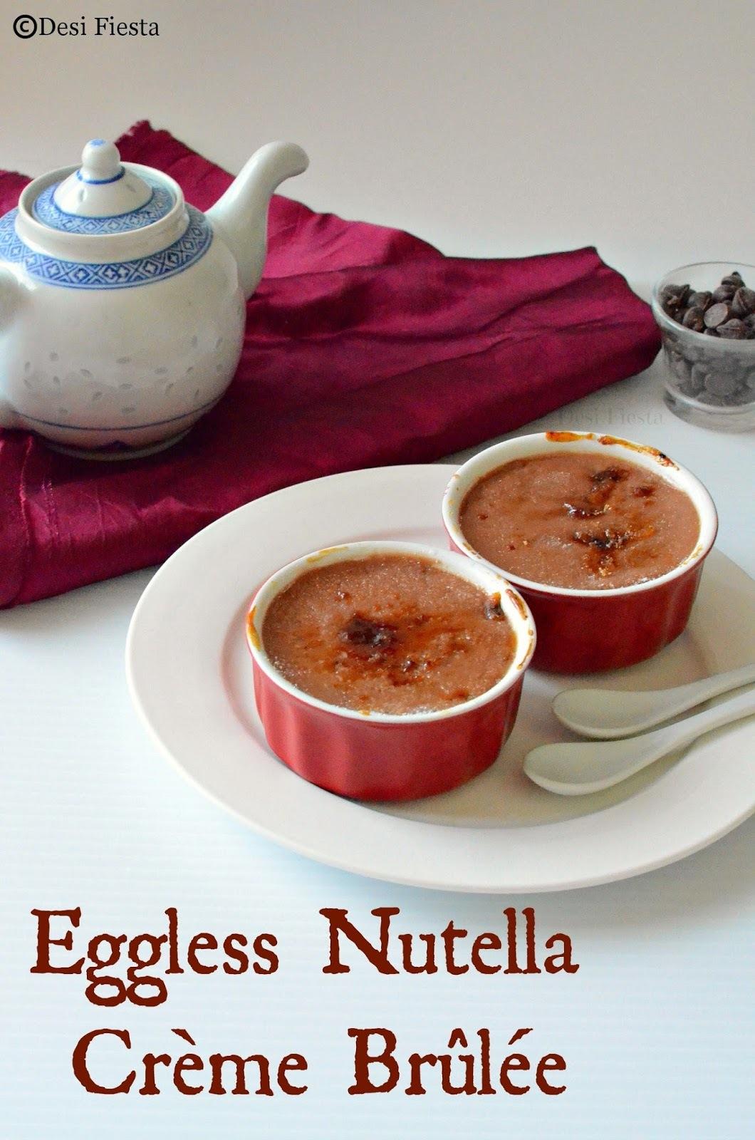 Eggless Nutella Crème Brûlée