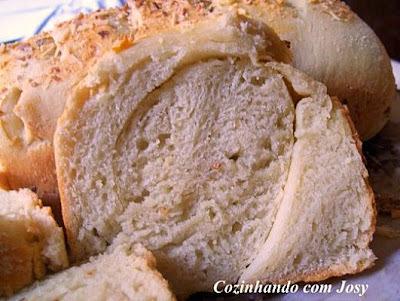 pão de alho com massa fina