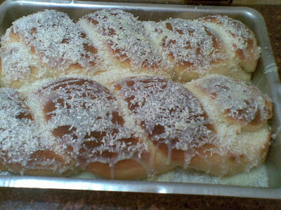 Pão doce com leite de côco