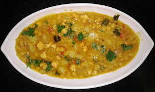 Chana Dal with Keema ( Keema die Chola r Dal)