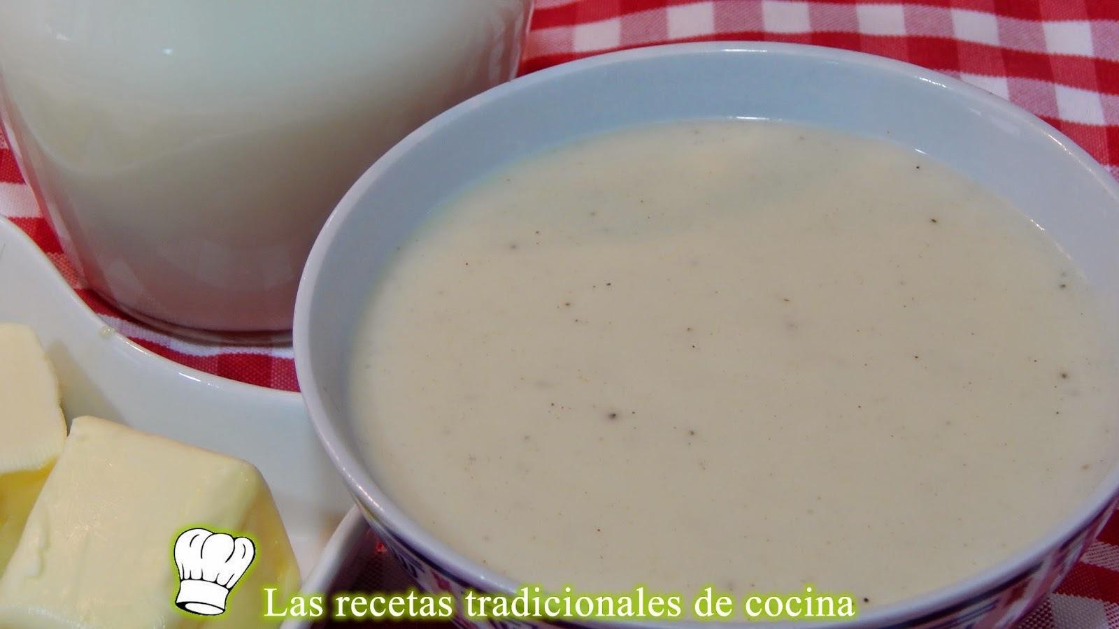 Receta fácil de salsa bechamel