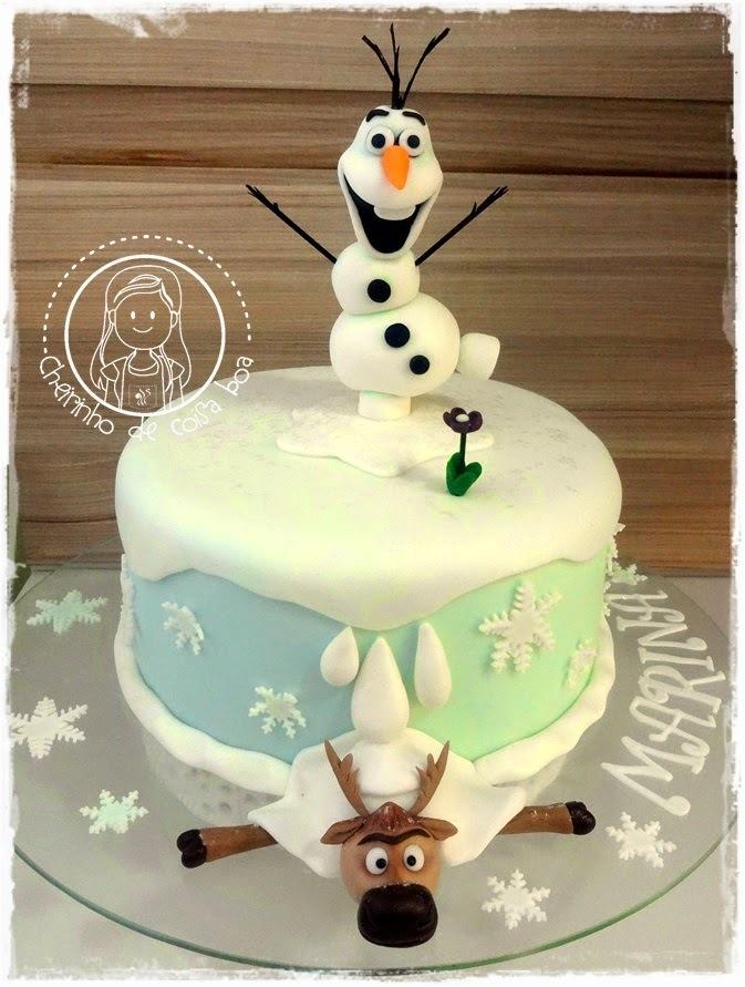 Bolo Frozen - Olaf e Sven